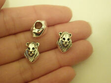 10 large hole lion beads charm bracelet silver jewellery making wholesale AM68