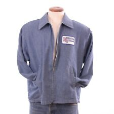 VTG Large RO Ottilie Seeds Blue Work Coat Jacket Shirt Denim Retro Hipster