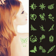 Hot New Glow In The Dark Night Body Temporary Tattoos Luminous Stickers LC