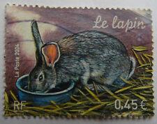 TIMBRE 2004 LE LAPIN OBLITÉRÉ