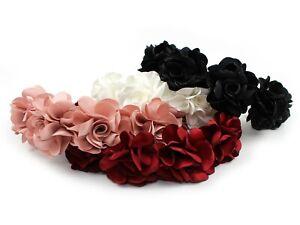 Rich Satin Fabric Flower Floral Headband Hairband Wedding Bridal Hair Accessory