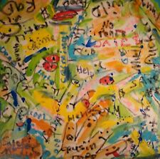 Modernist ABSTRACT Modern Painting GRAFFITI Expressionist ART HANDS ON FOLTZ