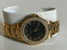NEW! STYLE & CO BLACK DIAL RHINESTONES CRYSTALS GOLD-TONE BRACELET WATCH SC1393