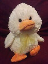 """CALTOY White DUCK yellow bow plush stuffed animal toy 13"""""""