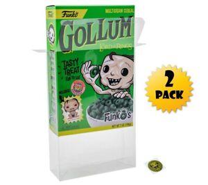Vinyl Box Case Protector For  Funko Cereal Box + Microfiber Cloth (2 pack)