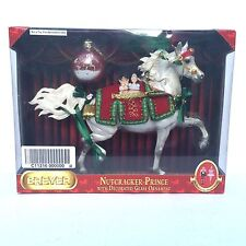 Breyer Horse Nutcracker Prince 2009 Holiday Gray Huckleberry Bey Glass Ornament