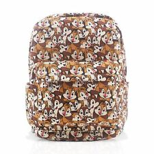 Finex Chip & Dale Brown Canvas Backpack with Laptop storage compartment for Kids