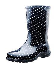 Sloggers 5013BP10 Rain&Garden Boots,Size10, Black/White Polka Dot Print