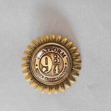 Harry Potter Brooch Fashion Jewelry Gift Train Ticket Platform 9 3/4 Badge Pin