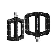 Rockbros Mtb Bicycle Pedals Nylon Wide Cycling Bearing Pedals Black a Pair