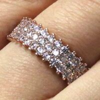 .15 Ct Round Moissanite Ring Women Jewelry 14K Rose Gold Plated Free Shipping