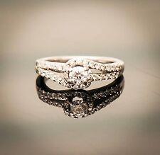 14K White Gold Round Brilliant Cut Diamond Engagement Ring W/ $3890 Appraisal!