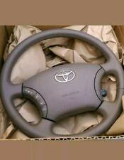 New OEM Land Cruiser, Sequoia, Tundra Tan brown leather Steering wheel W/bag