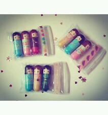 Kimono doll 3 x lip balm gift set lipstick gloss girls beauty spa kit party xmas