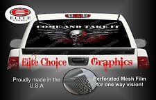 Skull Gun Rights Rear Window Graphic Decal Sticker Truck Car SUV