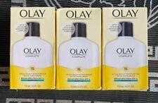 3 x Olay Complete All Day Moisturizer Sensitive Skin SPF 15 4oz EXP: 2021/2022