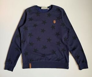 Naketano Star Pattern Men's Sweatshirt Size XL Navy Blue
