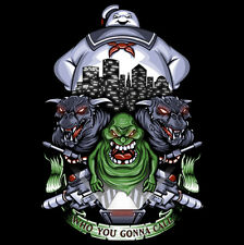 Ghostbusters/Stay Puft Marshmallow Man/Slimer Strange Neighborhood Shirt Mens LG