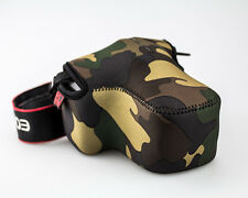 JJC OC-MC3 Waterproof Neoprene Camera Camouflage Bag for Nikon Canon DSLR _US