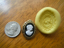 Pretty Cameo Cabochon Flexible Silicone Mold