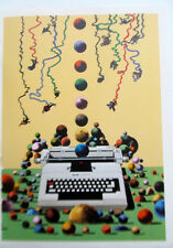Milton Glaser Poster 3 for Olivetti Typewriter  Offset Lithograph Unsigned