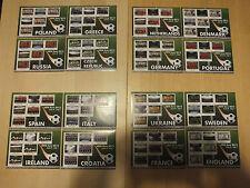 Sierra Leone 2012 MNH UEFA EURO Campionati europei di calcio 16X 6V sheetlets
