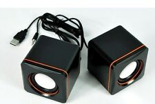 Protable Mini USB2.0 Speaker for Phone Laptop PC MP3 loud speaker Black