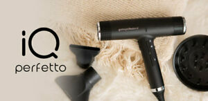 GAMA Italy Professional IQ Perfetto Black Hair Blow Dryer NEW