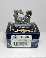 The Snoozing Wizard #3583 Tudor Mint Myth and Magic Pewter MIB New Old Stock