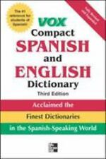 Vox Compact Spanish and English Dictionary, 3rd Edition Vox Paperback