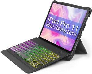 Inateck iPad Pro 11 Zoll 2021/2020/2018 beleuchtete Tastatur Hülle DIY Backlit