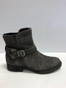 Born Syd Womens Bootie Dark Grey Leather Distressed 9.5 M