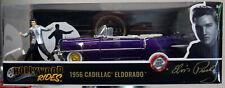 Jada Toys 30985 1956 Cadillac Eldorado Convertible lila w. Elvis Figur 1:24