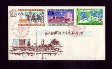 INDONESIEN 688-90 auf FDC - 444 Jahre Jakarta 1971