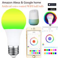 Wifi Smart APP Remote Control Light Bulb Wake-Up Lights For Alexa Google Home RE
