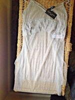 New Look Petitie Grey Spot Print Frill Trim Mesh Cami Dress UK Size 10
