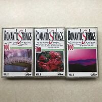 Romantic Strings Cassette Tape Lot of 3 tapes - Vol. 2, Vol. 8, Vol. 5