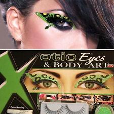 Sexy Purr Green Black Leopard Spots Animal Print Costume Cosplay Cat Girl Makeup