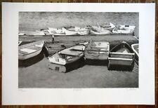 Vintage Original S. Weber Print, Dinghies, Rockport MA Signed & Numbered Boats