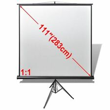 "Projector Screen Tripod Stand 111"" 1:1 Home Theatre Office HD Movie Projection"