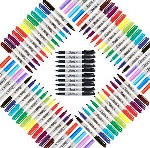 Sharpie Marker Pens Fine Packs of 4 5 12 21 28 Black, Pastel & Assorted Colours