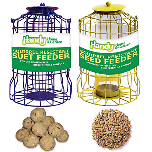 SQUIRREL RESISTANT - FATBALL and SEED FEEDERS with FEED Bundles