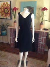 Jones New York Platinum Black Sleeveless Knee Length Sheath Dress Size 10