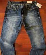 Guess Regular Straight Leg Jeans Men's Size 31 X 32 Classic Blue Distressed Wash