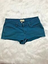 Roxy Denim Shorts Aqua 13 Juniors Short Cotton . Mini
