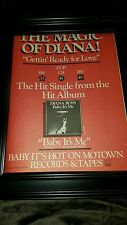 Diana Ross Baby It's Me Rare Original Promo Poster Ad Framed!
