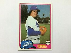 1981 Topps Traded #850 Fernando Valenzuela Rookie Card RC