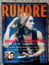 RUMORE Italy Magazine 1999 IGGY POP Supergrass Unida Manson Gomez RARO!