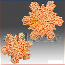 2D silicone Soap/polymer/clay/cold porcelain mold – Snowflake #8