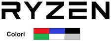 Adesivo Sticker Vinile Prespaziato - RYZEN - 160 x 30 mm